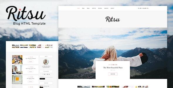 Ritsu - Responsive Blog HTML Template - Personal Site Templates