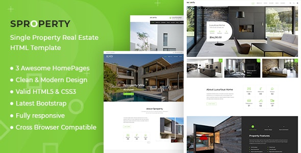 Sproperty - Single Property HTML Template - Business Corporate