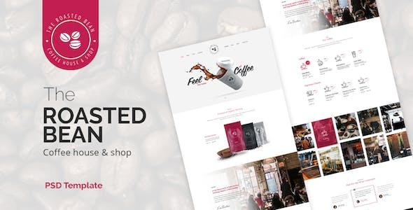Roasted Bean  - Creative & Coffee Shop PSD Template
