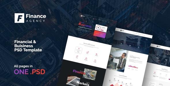 FinAg - Creative &  Finance Agency PSD Template - Business Corporate