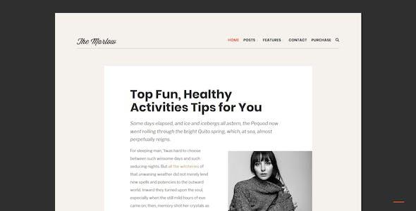 Marlow - Distinctive, Typography-First WordPress Blog Theme