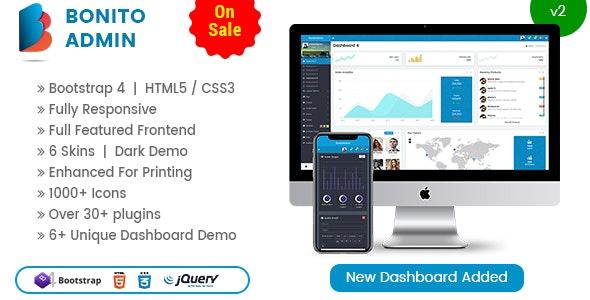 Bonito - Responsive Bootstrap 4 Admin Template Dashboard - Admin Templates Site Templates