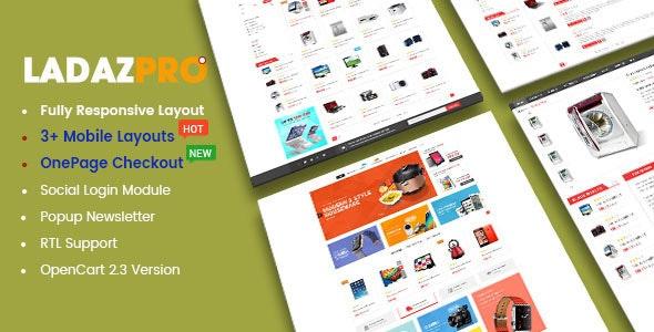 LadazPro - Advanced Multipurpose Responsive OpenCart 2.3 Theme - OpenCart eCommerce