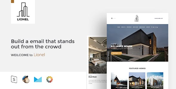 Lional - Responsive Email + StampReady Builder