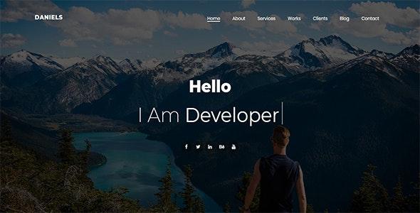Daniels - One Page Portfolio - Personal Site Templates