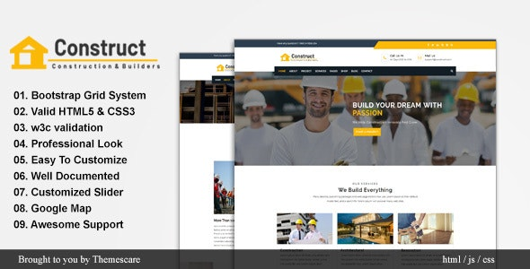 Construct - Construction and Building Website Template - Business Corporate