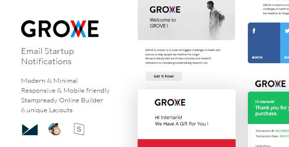 Grove - Email Startup Notifications - Email Templates Marketing