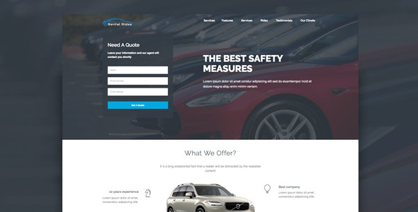Rental Rides Unbounce Landing Page - Unbounce Landing Pages Marketing