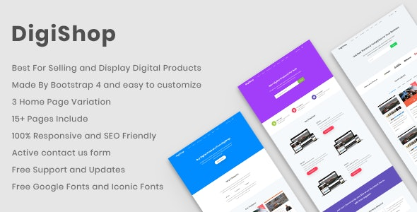 DigiShop - Responsive HTML5 Template - Software Technology