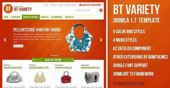 BT Variety - Fashion Catalog Joomla Template - Fashion Retail
