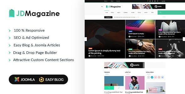 JD Magazine - Best Blog Joomla 3.9 Template