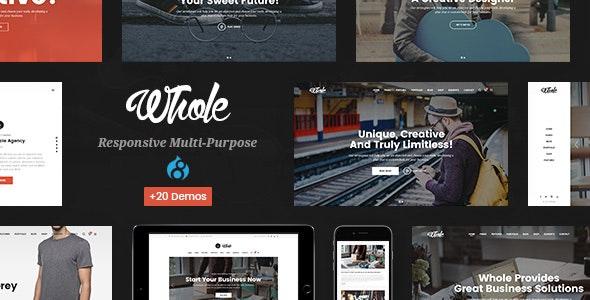 Whole - Responsive Multi-Purpose Drupal 8.8 Theme - Business Corporate