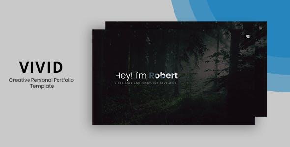 Vivid - Creative Personal Portfolio Template.