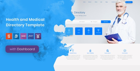 Tabib - Health and Medical Directory Template - Health & Beauty Retail