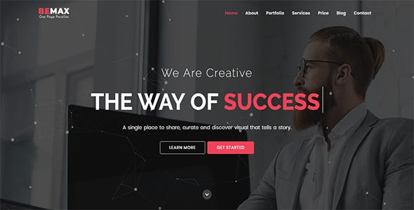 Bemax - One Page Parallax