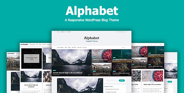 Alphabet - A Responsive WordPress Blog Theme - Personal Blog / Magazine
