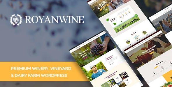 Royanwine - Wine store & Dairy Farm WordPress Theme
