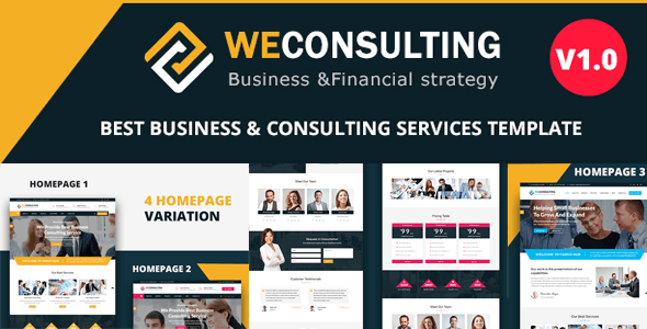 WECONSULTING - Responsive BootStrap Drupal 8.8 Theme - Corporate Drupal