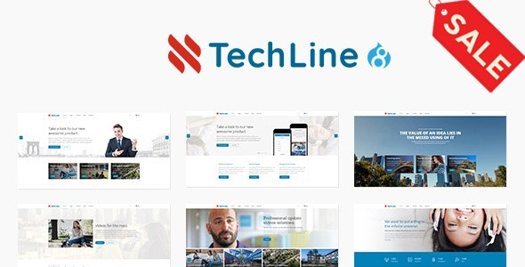 TechLine - Web services businesses and startups Drupal 8.8 Theme - Business Corporate
