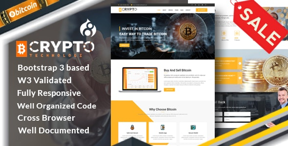 Crypto - Bitcoin Currency Drupal 8.8 Theme - Business Corporate