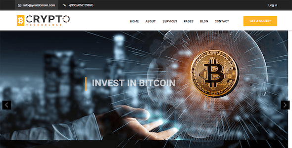 Crypto - Bitcoin Currency Drupal 8.9 Theme