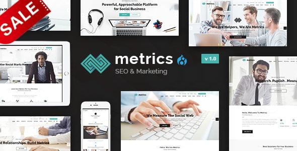 Metrics Business - SEO Digital Marketing And Social Media Drupal 8.9 Theme - Marketing Corporate