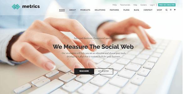 Metrics Business - SEO Digital Marketing And Social Media Drupal 8.9 Theme