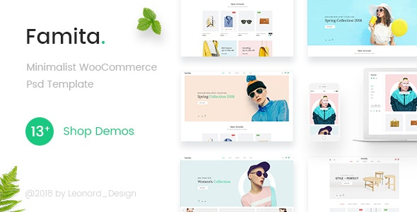 Famita | Minimalist WooCommerce Psd Template - Retail Photoshop