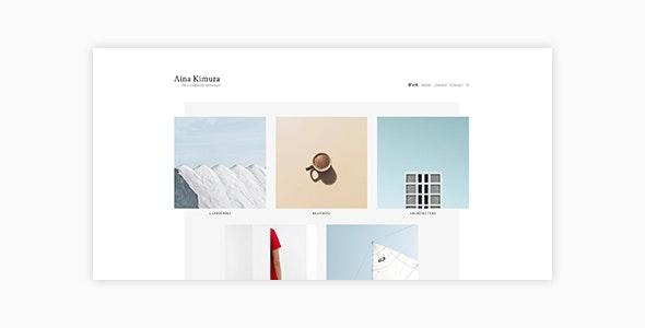 Aina - Minimal Photography and Portfolio WordPress Theme - Photography Creative