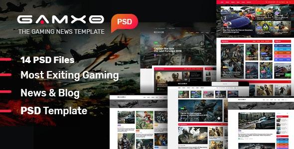 GAMXE I News & Blog PSD Template - Creative Photoshop