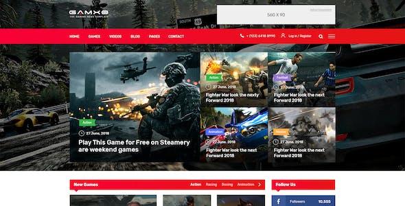 GAMXE I News & Blog PSD Template