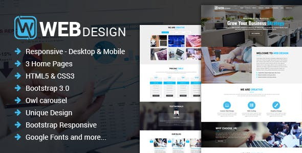 Web Design - Responsive One Page HTML Template