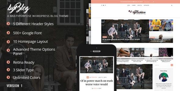 Byblog - Responsive WordPress Blog Theme - Blog / Magazine WordPress