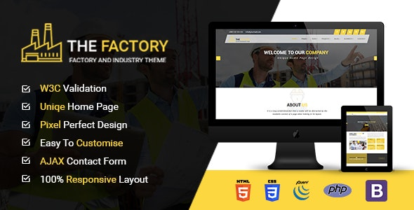 The Factory - Construction, Factory and Industry HTML5 Template - Business Corporate