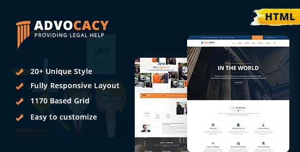 Advocacy - Legal Lawyer Law Firm Attorney Business HTML Template