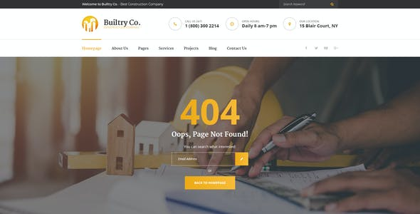 Builtry - Construction & Building Company PSD Template