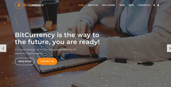 Bitcurrency - Bitcoin and Cryptocurrency Landing Page HTML Template