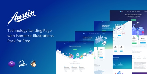 Austin - Technology HTML Template - Technology Landing Pages