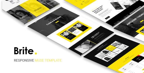 Brite   Responsive Multi-Purpose Muse Template   Business - Corporate Muse Templates