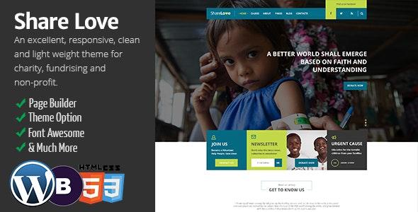 Charity ShareLove Fund Raising WordPress Theme - Charity Nonprofit