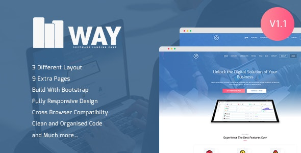 Way - Software Landing Page - Software Technology