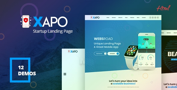 Xapo - Responsive Landing Page Template - Technology Site Templates