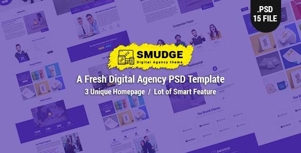 Smudge - A Fresh Digital Agency PSD Template - Creative Photoshop
