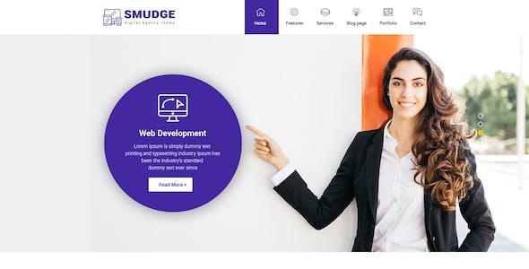 Smudge - A Fresh Digital Agency PSD Template