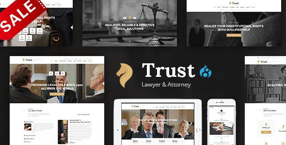 Trust - Lawyer & Attorney Business Drupal 8.8 Theme - Business Corporate