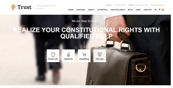Trust - Lawyer & Attorney Business Drupal 8.9 Theme