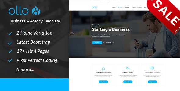 ollo Business & Agency Drupal 8.8 Theme - Business Corporate