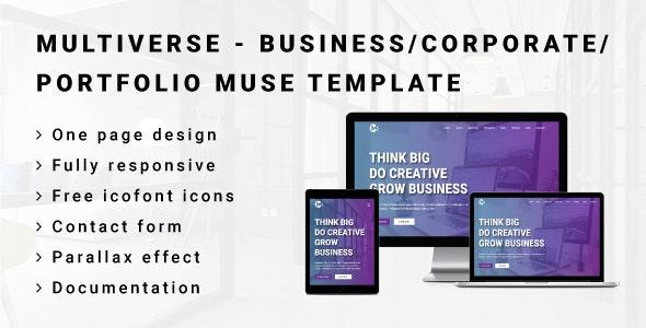 MULTIVERSE - Multipurpose Business/Corporate/Portfolio Muse Template - Corporate Muse Templates
