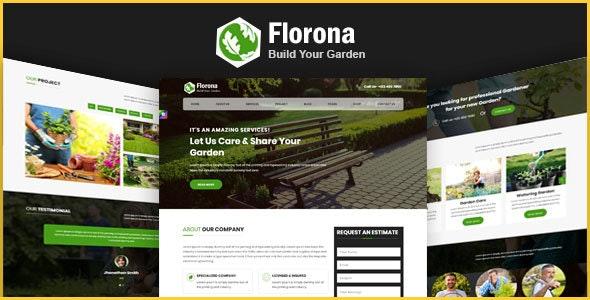 Florona - Gardening HTML Bootstrap4 Responsive Template - Business Corporate
