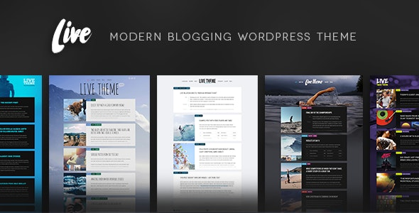 Live — Blog WordPress Theme - Personal Blog / Magazine